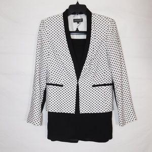 John Meyer Black & White Skirt Suit 2 Piece Set 6